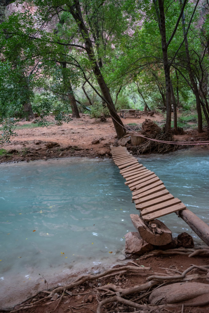 Backpacking Havasupai in October: Havasupai campground