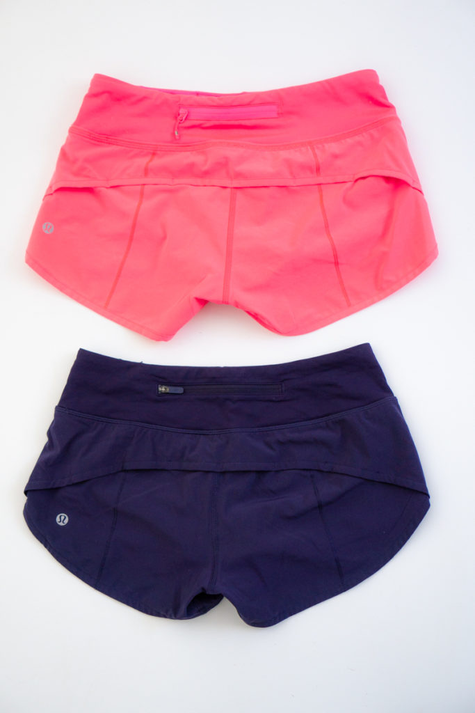 How to tell the difference between lululemon speed shorts and speed up shorts