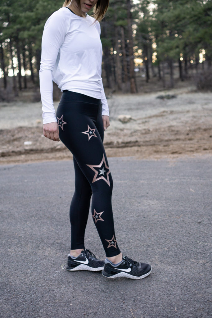 Star embellished workout tights: Ultracor leggings review
