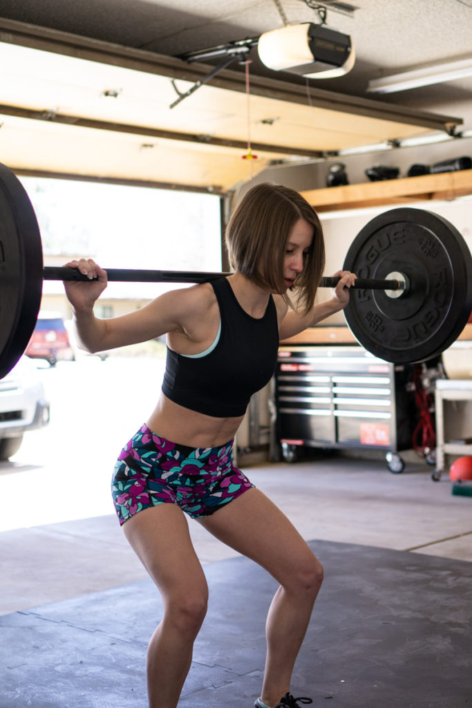 Garage gym workout outfit