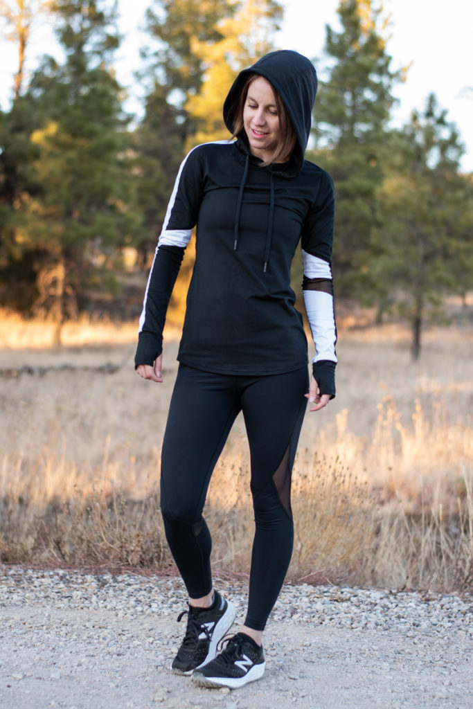 Alala black and white workout outfit