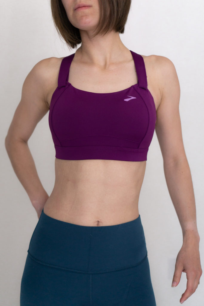 High impact sports bra review for running: Brooks Juno