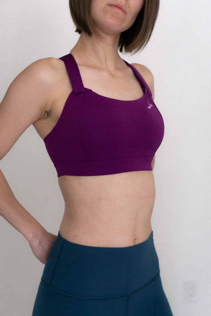 High support sports bra review for running: Brooks Juno