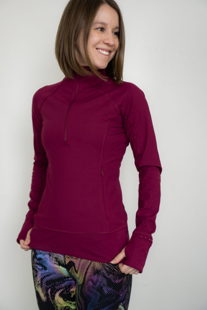 Athleta cold weather running top review