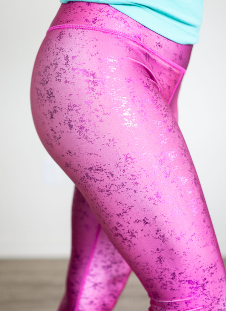 Terez pink foil leggings review