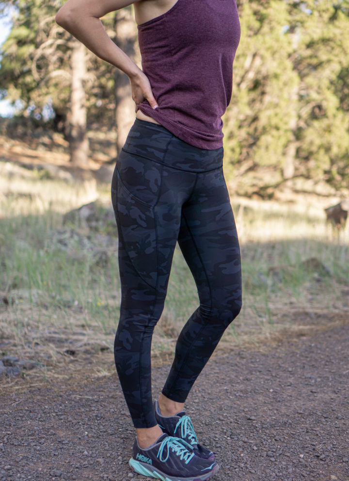Lululemon camo fast and free tights review
