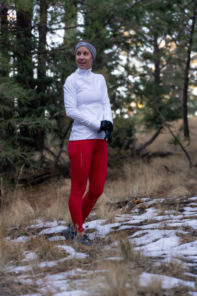 Athleta cold weather run outfit