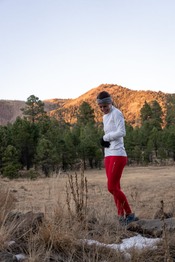 Athleta cold weather running outfit