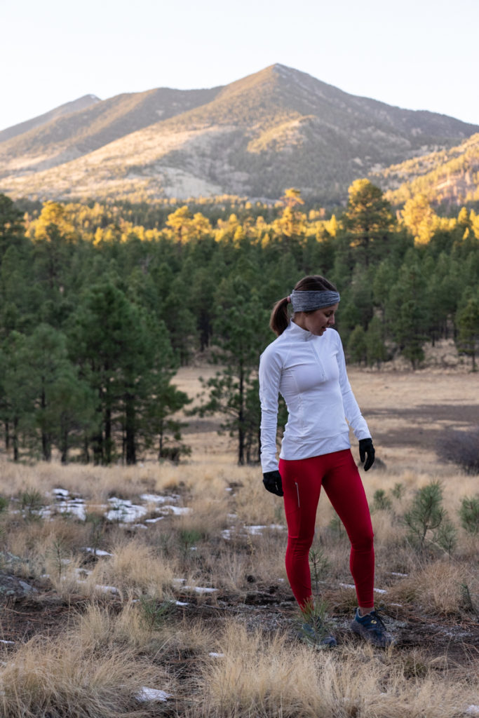 Athleta winter running outfit