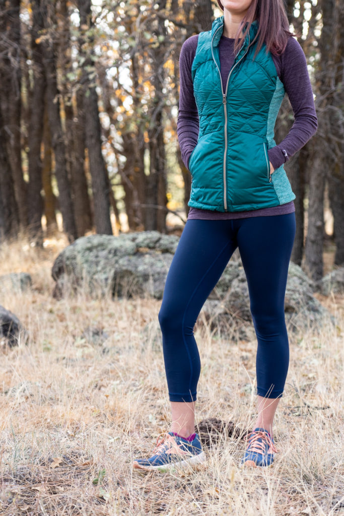Lululemon navy leggings workout outfit