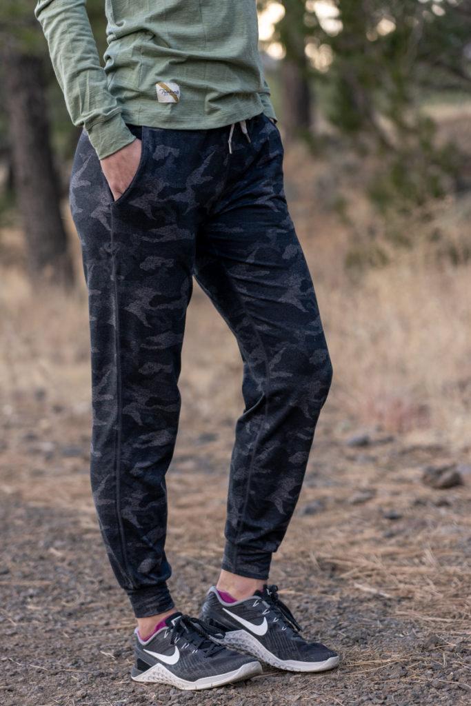 Super soft and comfortable black camo joggers
