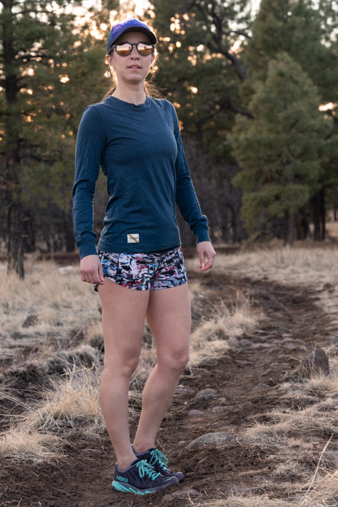 Spring trail running outfit idea