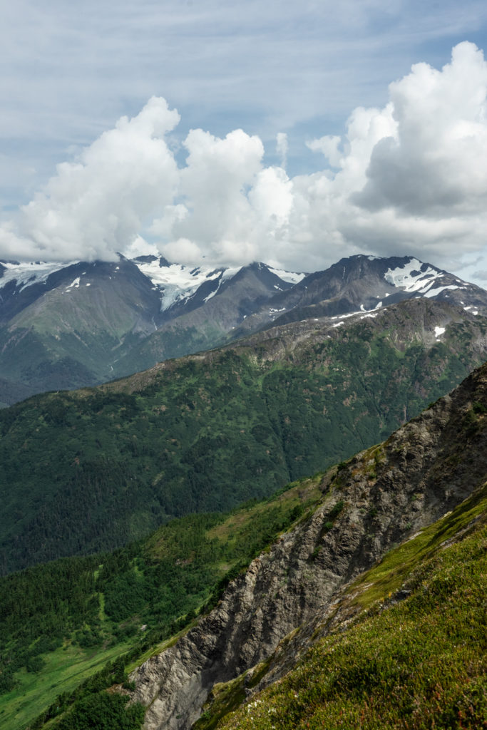 Views from the top of the Aleyska Aerial Tram in summer