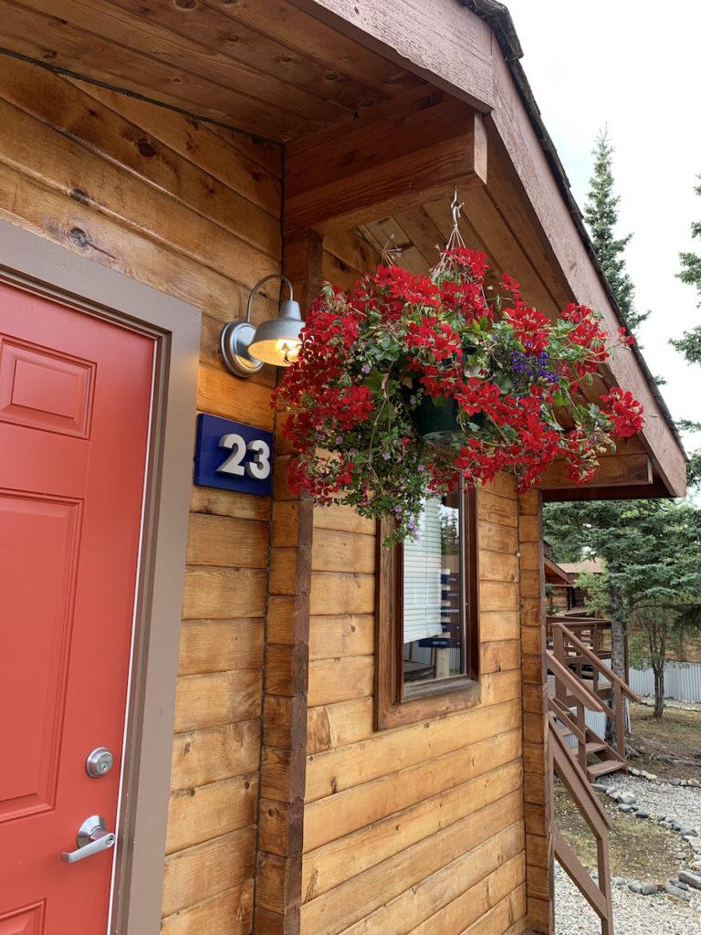Denali Cabins room entrance