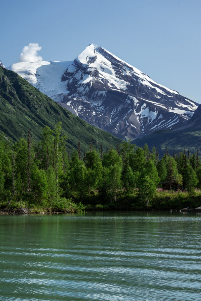 Redoubt Mountain from Crescent Lake