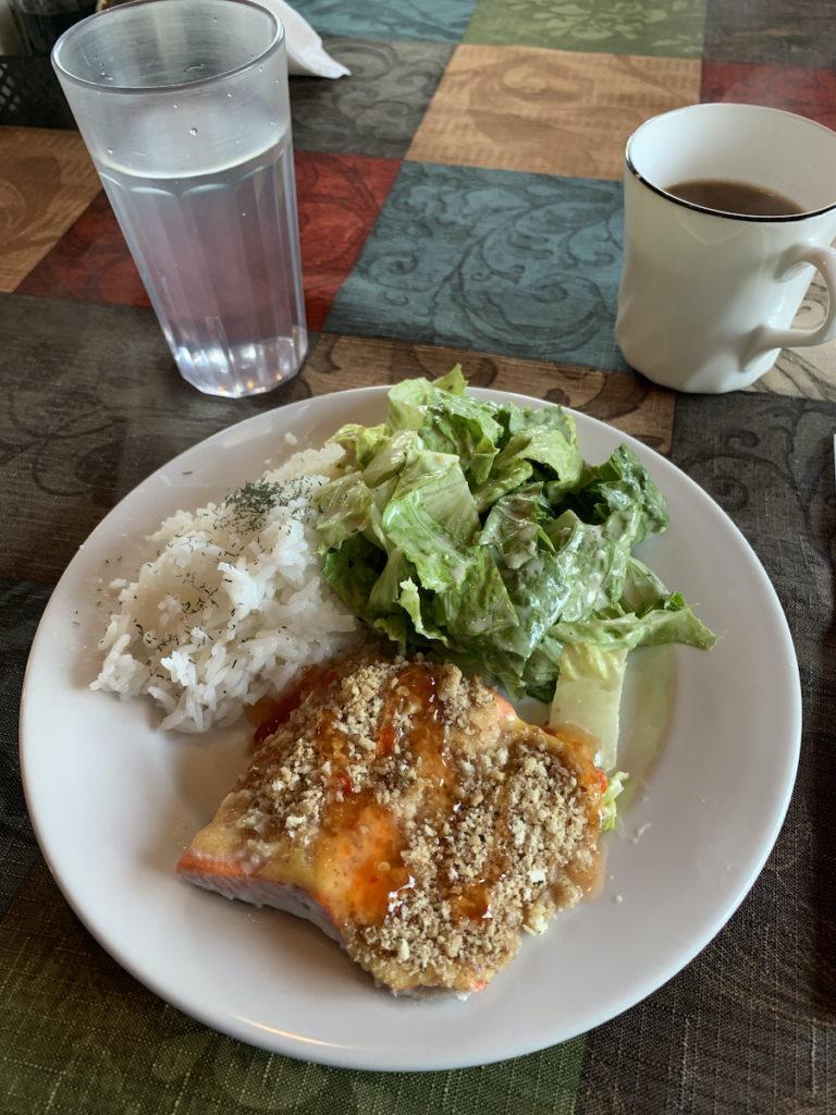 Redoubt Lodge fresh salmon lunch
