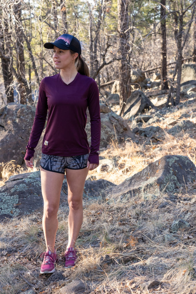 Fall running outfit: Tracksmith and lululemon